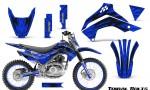 Kawasaki KLX140 08 16 Graphics Kit Tribal Bolts Blue NP Rims 150x90 - Kawasaki KLX140 2008-2017 Graphics