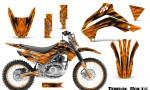 Kawasaki KLX140 08 16 Graphics Kit Tribal Bolts Orange NP Rims 150x90 - Kawasaki KLX140 2008-2017 Graphics