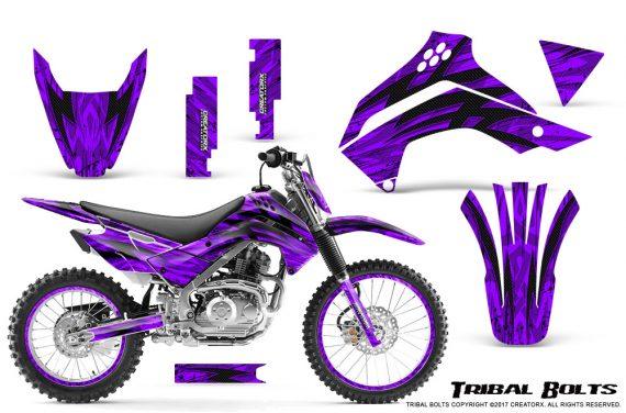 Kawasaki KLX140 08 16 Graphics Kit Tribal Bolts Purple NP Rims 570x376 - Kawasaki KLX140 2008-2017 Graphics