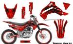 Kawasaki KLX140 08 16 Graphics Kit Tribal Bolts Red NP Rims 150x90 - Kawasaki KLX140 2008-2017 Graphics