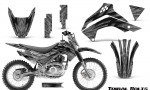 Kawasaki KLX140 08 16 Graphics Kit Tribal Bolts Silver NP Rims 150x90 - Kawasaki KLX140 2008-2017 Graphics