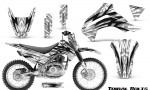 Kawasaki KLX140 08 16 Graphics Kit Tribal Bolts White NP Rims 150x90 - Kawasaki KLX140 2008-2017 Graphics