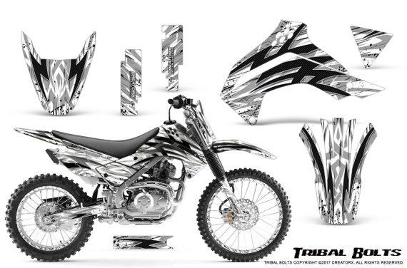 Kawasaki KLX140 08 16 Graphics Kit Tribal Bolts White NP Rims 570x376 - Kawasaki KLX140 2008-2017 Graphics