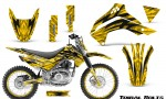 Kawasaki KLX140 08 16 Graphics Kit Tribal Bolts Yellow NP Rims 150x90 - Kawasaki KLX140 2008-2017 Graphics