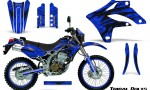 Kawasaki KLX250 04 07 Graphics Kit Tribal Bolts Blue NP Rims 150x90 - Kawasaki KLX250 2004-2007 Graphics
