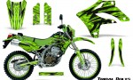 Kawasaki KLX250 04 07 Graphics Kit Tribal Bolts Green NP Rims 150x90 - Kawasaki KLX250 2004-2007 Graphics