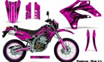 Kawasaki KLX250 04 07 Graphics Kit Tribal Bolts Pink NP Rims 150x90 - Kawasaki KLX250 2004-2007 Graphics