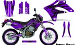 Kawasaki KLX250 04 07 Graphics Kit Tribal Bolts Purple NP Rims 150x90 - Kawasaki KLX250 2004-2007 Graphics