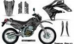 Kawasaki KLX250 04 07 Graphics Kit Tribal Bolts Silver NP Rims 150x90 - Kawasaki KLX250 2004-2007 Graphics