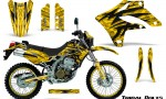 Kawasaki KLX250 04 07 Graphics Kit Tribal Bolts Yellow NP Rims 150x90 - Kawasaki KLX250 2004-2007 Graphics