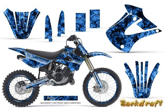 Kawasaki KX85 KX100 01 13 CreatorX Graphics Kit Backdraft Blue NP Rims 570x376 - Kawasaki KX85 KX100 2001-2013 Graphics