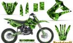 Kawasaki KX85 KX100 01 13 CreatorX Graphics Kit Backdraft Green NP Rims 150x90 - Kawasaki KX85 KX100 2001-2013 Graphics