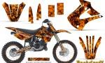 Kawasaki KX85 KX100 01 13 CreatorX Graphics Kit Backdraft Orange NP Rims 150x90 - Kawasaki KX85 KX100 2001-2013 Graphics