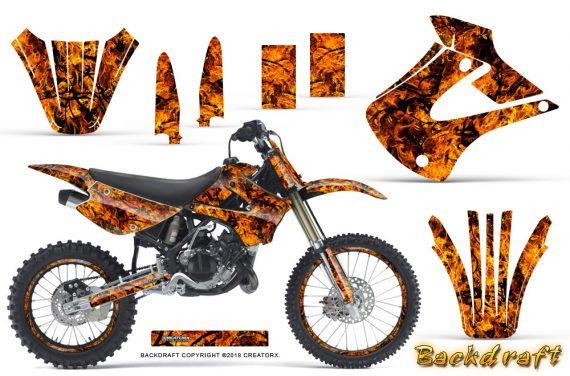 Kawasaki KX85 KX100 01 13 CreatorX Graphics Kit Backdraft Orange NP Rims 570x376 - Kawasaki KX85 KX100 2001-2013 Graphics
