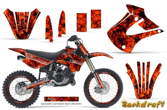 Kawasaki KX85 KX100 01 13 CreatorX Graphics Kit Backdraft Red NP Rims 570x376 - Kawasaki KX85 KX100 2001-2013 Graphics