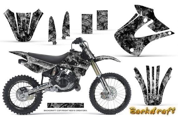 Kawasaki KX85 KX100 01 13 CreatorX Graphics Kit Backdraft Silver NP Rims 570x376 - Kawasaki KX85 KX100 2001-2013 Graphics