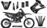 Kawasaki KX85 KX100 01 13 CreatorX Graphics Kit Cold Fusion Black NP 150x90 - Kawasaki KX85 KX100 2001-2013 Graphics