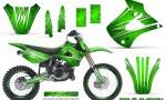 Kawasaki KX85 KX100 01 13 CreatorX Graphics Kit Cold Fusion Green NP Rims 150x90 - Kawasaki KX85 KX100 2001-2013 Graphics