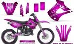 Kawasaki KX85 KX100 01 13 CreatorX Graphics Kit Cold Fusion Pink NP Rims 150x90 - Kawasaki KX85 KX100 2001-2013 Graphics