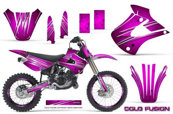 Kawasaki KX85 KX100 01 13 CreatorX Graphics Kit Cold Fusion Pink NP Rims 570x376 - Kawasaki KX85 KX100 2001-2013 Graphics