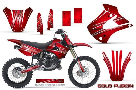 Kawasaki KX85 KX100 01 13 CreatorX Graphics Kit Cold Fusion Red NP 570x376 - Kawasaki KX85 KX100 2001-2013 Graphics