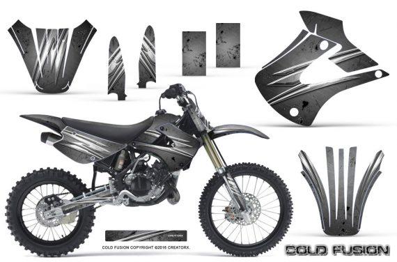 Kawasaki KX85 KX100 01 13 CreatorX Graphics Kit Cold Fusion Silver NP 570x376 - Kawasaki KX85 KX100 2001-2013 Graphics