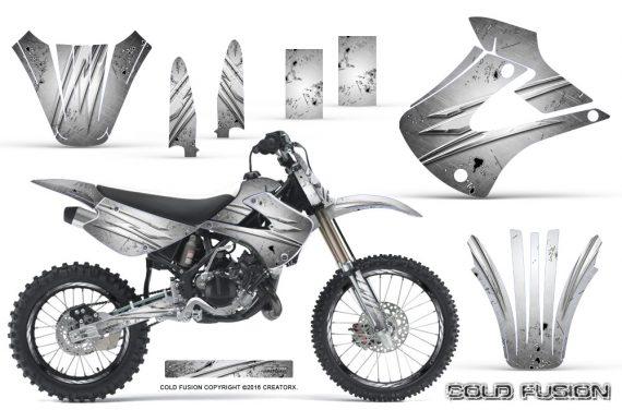 Kawasaki KX85 KX100 01 13 CreatorX Graphics Kit Cold Fusion White NP Rims 570x376 - Kawasaki KX85 KX100 2001-2013 Graphics