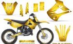 Kawasaki KX85 KX100 01 13 CreatorX Graphics Kit Cold Fusion Yellow NP Rims 150x90 - Kawasaki KX85 KX100 2001-2013 Graphics