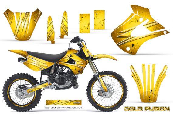 Kawasaki KX85 KX100 01 13 CreatorX Graphics Kit Cold Fusion Yellow NP Rims 570x376 - Kawasaki KX85 KX100 2001-2013 Graphics