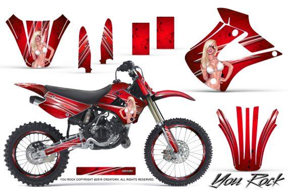 Kawasaki KX85 KX100 01 13 CreatorX Graphics Kit You Rock Red NP Rims 570x376 - Kawasaki KX85 KX100 2001-2013 Graphics