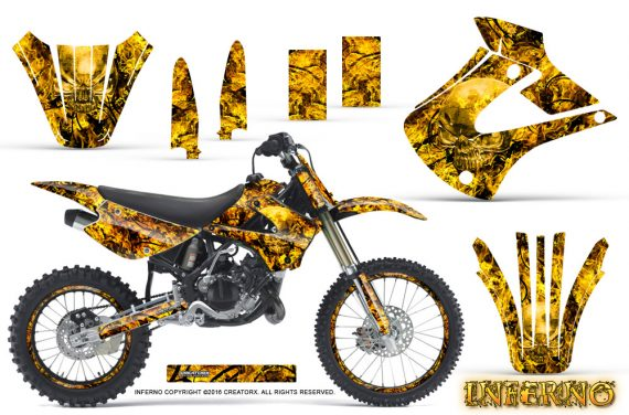 Kawasaki KX85 KX100 01 13 Inferno Yellow NP Rims 570x376 - Kawasaki KX85 KX100 2001-2013 Graphics