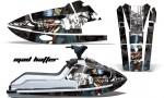 Kawi JetSki X2 AMR Graphics Kit MH BW 150x90 - Kawasaki X2 650 Jet Ski 1986-1995 Graphics