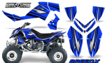 Outlaw 500 06 08 CreatorX Graphics Kit SpeedX Black Blue 150x90 - Polaris Outlaw 450/500/525 2006-2008 Graphics