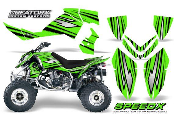 Outlaw 500 06 08 CreatorX Graphics Kit SpeedX Black Green 570x376 - Polaris Outlaw 450/500/525 2006-2008 Graphics