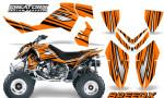 Outlaw 500 06 08 CreatorX Graphics Kit SpeedX Black Orange 150x90 - Polaris Outlaw 450/500/525 2006-2008 Graphics