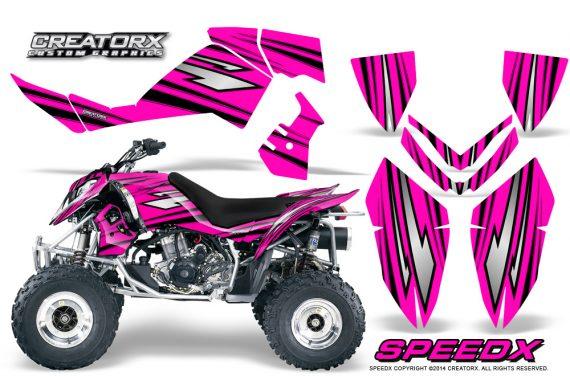 Outlaw 500 06 08 CreatorX Graphics Kit SpeedX Black Pink 570x376 - Polaris Outlaw 450/500/525 2006-2008 Graphics