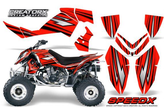 Outlaw 500 06 08 CreatorX Graphics Kit SpeedX Black Red 570x376 - Polaris Outlaw 450/500/525 2006-2008 Graphics