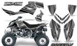 Outlaw 500 06 08 CreatorX Graphics Kit SpeedX Black Silver 150x90 - Polaris Outlaw 450/500/525 2006-2008 Graphics