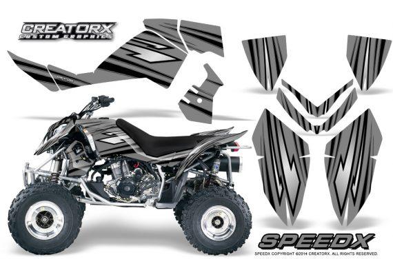 Outlaw 500 06 08 CreatorX Graphics Kit SpeedX Black Silver 570x376 - Polaris Outlaw 450/500/525 2006-2008 Graphics