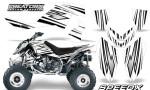 Outlaw 500 06 08 CreatorX Graphics Kit SpeedX Black White 150x90 - Polaris Outlaw 450/500/525 2006-2008 Graphics