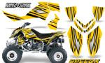 Outlaw 500 06 08 CreatorX Graphics Kit SpeedX Black Yellow 150x90 - Polaris Outlaw 450/500/525 2006-2008 Graphics