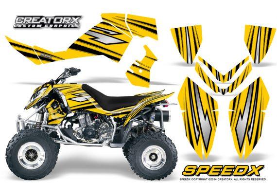 Outlaw 500 06 08 CreatorX Graphics Kit SpeedX Black Yellow 570x376 - Polaris Outlaw 450/500/525 2006-2008 Graphics