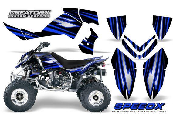 Outlaw 500 06 08 CreatorX Graphics Kit SpeedX Blue Black 570x376 - Polaris Outlaw 450/500/525 2006-2008 Graphics