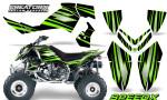 Outlaw 500 06 08 CreatorX Graphics Kit SpeedX Green Black 150x90 - Polaris Outlaw 450/500/525 2006-2008 Graphics