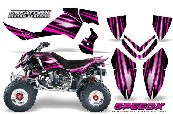 Outlaw 500 06 08 CreatorX Graphics Kit SpeedX Pink Black 570x376 - Polaris Outlaw 450/500/525 2006-2008 Graphics