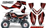 Outlaw 500 06 08 CreatorX Graphics Kit SpeedX Red Black 150x90 - Polaris Outlaw 450/500/525 2006-2008 Graphics