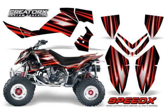 Outlaw 500 06 08 CreatorX Graphics Kit SpeedX Red Black 570x376 - Polaris Outlaw 450/500/525 2006-2008 Graphics