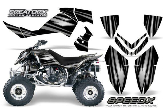 Outlaw 500 06 08 CreatorX Graphics Kit SpeedX Silver Black 570x376 - Polaris Outlaw 450/500/525 2006-2008 Graphics