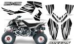 Outlaw 500 06 08 CreatorX Graphics Kit SpeedX White Black 150x90 - Polaris Outlaw 450/500/525 2006-2008 Graphics