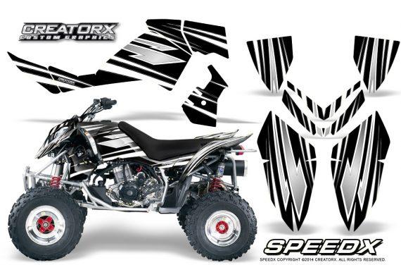 Outlaw 500 06 08 CreatorX Graphics Kit SpeedX White Black 570x376 - Polaris Outlaw 450/500/525 2006-2008 Graphics